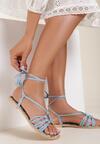 Niebieskie Sandały Petite Fleur