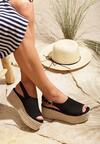 Czarne Sandały Grotesque
