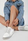 Biało-Srebrne Sneakersy Rate Highly