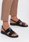 Czarne Sandały Moringa