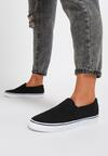 Czarne Slip On Distracted