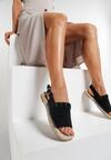 Czarne Sandały Refurbish