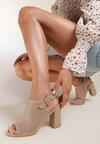 Ciemnobeżowe Sandały Tordi