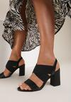 Czarne Sandały Delobel