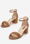 Brązowe Sandały Arievia