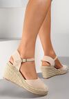Beżowe Sandały Assaciane