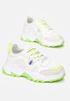 Biało-Zielone Sneakersy Lucence