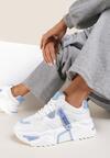 Biało-Niebieske Sneakersy Touch Of Light