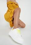 Biało-Żółte Sneakersy Soft Gradient