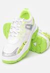 Biało-Limonkowe Sneakersy Bubblebirdok