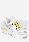 Biało-Żółte Sneakersy Noonhold