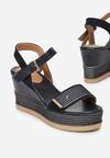 Granatowe Sandały Poreilaira
