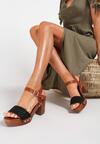 Czarne Sandały Salalenia