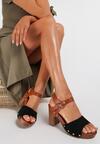 Czarne Sandały Thessalora