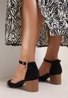 Czarne Sandały Kleorea