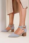 Niebieskie Sandały Delmadine