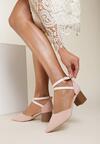 Różowe Sandały Delmadine