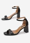 Czarne Sandały Adomoni