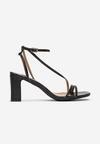Czarne Sandały Klethelia