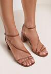 Brązowe Sandały Klethelia