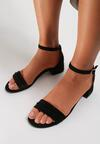 Czarne Sandały Murievien