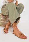 Beżowe Sandały Aetheda