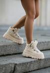 Beżowe Sneakersy Nalora
