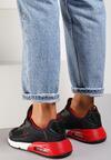 Czarno-Czerwone Buty Sportowe Qinerris