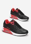 Czarno-Czerwone Buty Sportowe Praxanthe