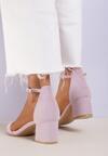 Liliowe Sandały Arievia