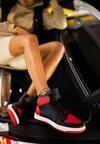 Czarno-Czerwone Sneakersy Asithera