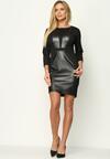 Czarna Sukienka Leatherette