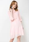 Różowa Sukienka Romantic Love