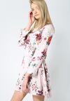 Różowo-Bordowa Sukienka Sweety Flower