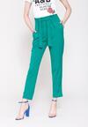 Zielone Spodnie Ribbon Belt