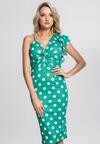 Zielona Sukienka I Like Dots