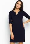 Granatowa Sukienka Simple Shape