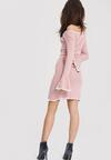 Różowa Sukienka Burgund