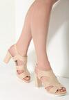 Beżowe Sandały Adored Summer