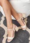 Beżowe Sandały Nefarious