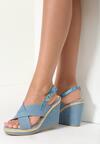 Niebieskie Sandały Snowblow