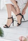 Czarne Sandały Alias