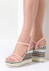 Różowe Sandały Aztec Wedge