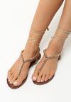 Złote Sandały Elaborate