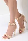 Beżowe Sandały Trefoil