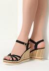 Czarne Sandały Escapade