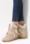 Beżowe Sneakersy Figurative