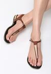 Brązowe Sandały Unruffled