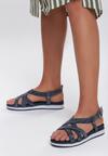 Granatowe Sandały Lapwing