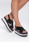 Czarne Sandały Sunglow